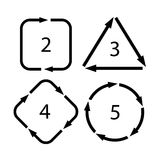 Arrow cycle diagram Stock Photography