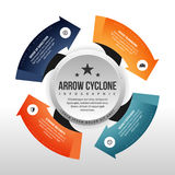 Arrow Cyclone Infographic Stock Images