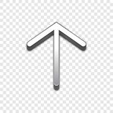 Arrow 3d vector icon. Raised symbol illustration. Royalty Free Stock Photos