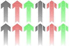Arrow of decreasing dots Stock Images