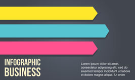 Arrow design element for business Infographic Royalty Free Stock Photography