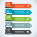 Arrow design elements for business infographics. Minimalistic template with 5 options. Steps, parts. Can be used for web, diagram, graph, workflow layout Stock Image