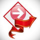 Arrow design. Red arrow digital design, vector illustration 10 eps graphic Royalty Free Stock Photos