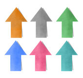 Arrow direct memo note colorful Royalty Free Stock Photography