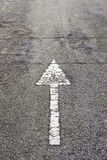Arrow direction on asphalt Royalty Free Stock Images