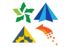Arrow direction icons. Icon and logo set that shows recycle, direction, development, unity and progress Stock Photos