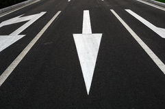 Arrow direction on road Royalty Free Stock Images