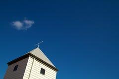 Arrow, direction, roof, blue sky Royalty Free Stock Photos