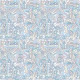 Arrow direction wave seamless winter. Seamless pattern background techno style of swirls, arrows, and shapes color winter blue, white, beige, pink Stock Photography