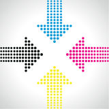 Arrow dot background Stock Image
