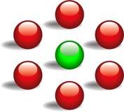 Arrow Dots Stock Photo