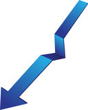 Arrow down Stock Image