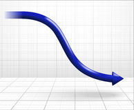 Arrow down graph Stock Photos