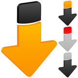 Arrow down icon. On white background. Vector illustration Royalty Free Stock Image
