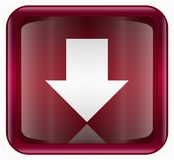 Arrow down icon red Royalty Free Stock Image