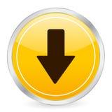 Arrow down yellow circle icon Royalty Free Stock Photography