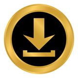 Arrow download button. Stock Images