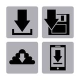 Arrow download file icon Royalty Free Stock Photography