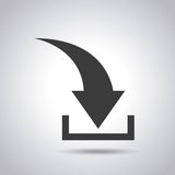 Arrow download file icon. Vector illustration design Stock Photography