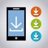 Arrow download file icon. Vector illustration design Royalty Free Stock Photo