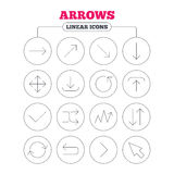 Arrow download, refresh and fullscreen symbols Stock Photo