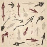 Arrow drawing2 Stock Image