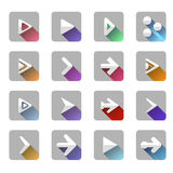 Arrow elements icon symbol colorful long shadow Stock Image