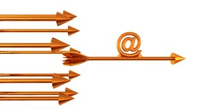 Arrow and email sign Stock Image