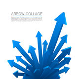 Arrow explosion blue Stock Image