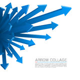 Arrow explosion blue Stock Photos