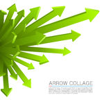 Arrow explosion Royalty Free Stock Photography