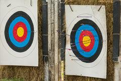Arrow field practice target Royalty Free Stock Images