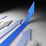 Arrow financial stat. Fine 3d image of financial graph business arrows Royalty Free Stock Images