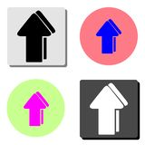 Arrow. flat vector icon royalty free illustration
