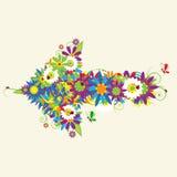 Arrow, floral design Royalty Free Stock Photo