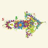 Arrow, floral design Stock Photos