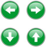 Icons 4 Arrow. The four icon of arrow: left, right, up, down Stock Photo