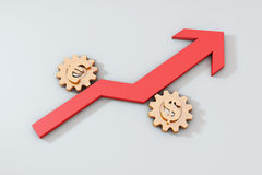 Arrow and gear Stock Images
