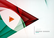 Arrow Geometric Shape Abstract Business Background Royalty Free Stock Photos
