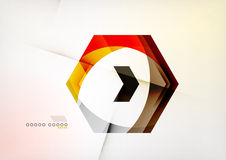 Arrow Geometric Shape Abstract Business Background Stock Images