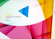 Arrow Geometric Shape Abstract Business Background. Graphic Design Template Royalty Free Stock Image