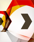 Arrow Geometric Shape Abstract Business Background Stock Photo