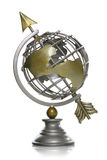 Arrow Through Globe Stock Photo