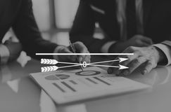 Arrow Goals Target Aspirations Copy Space Concept.  royalty free stock photos