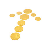 Arrow gold coin Royalty Free Stock Images