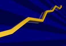 Arrow graph Royalty Free Stock Images