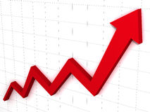 Arrow Graph Stock Photo