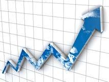 Arrow Graph Royalty Free Stock Image