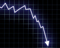 Arrow graph Stock Photos