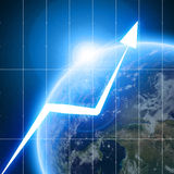 Arrow graph Stock Images